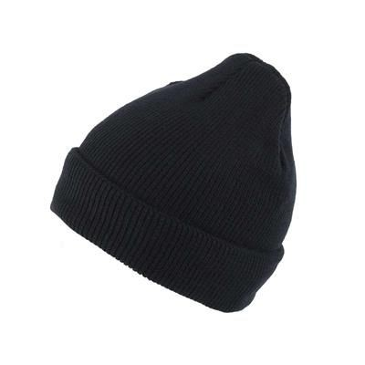 LINED KNITTED SKI HAT in Black.