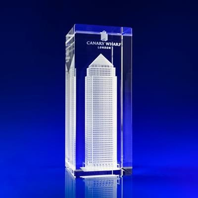 BUILDING GIFT IDEAS in Crystal Glass.