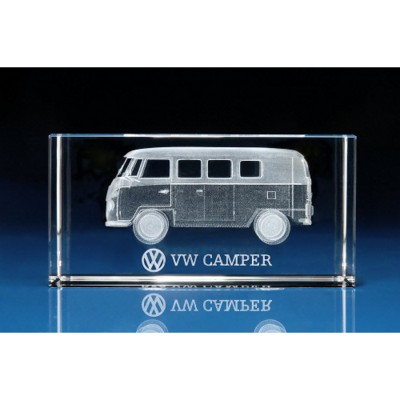 VW CAMPER VAN GIFT IDEAS 3D ENGRAVED in Crystal.