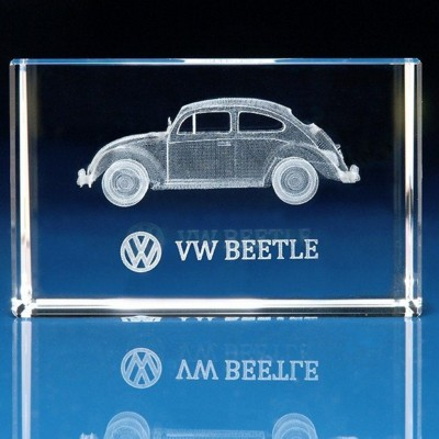 CAR GIFTS in 3d Engraved Glass.