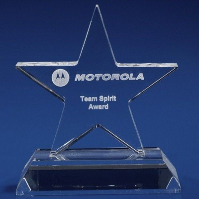 CRYSTAL GLASS STARLIGHT AWARD OR TROPHY AWARD.