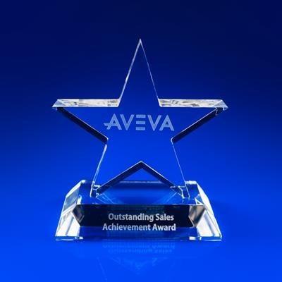 CRYSTAL GLASS STARLIGHT AWARD OR TROPHY AWARD.