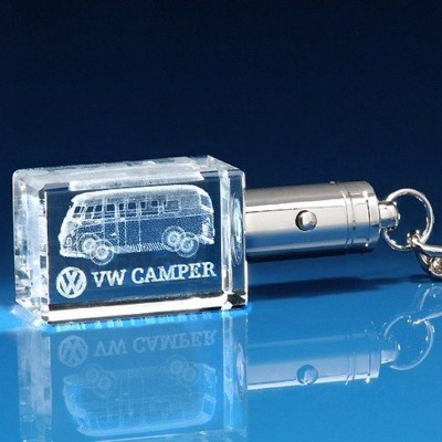 LED LIGHT KEYRING in Blue or White Light.