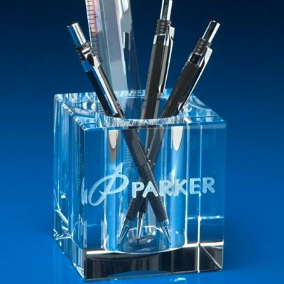 DESK PEN POT HOLDER in Crystal.