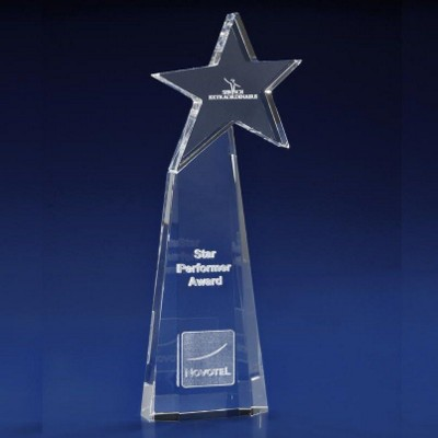 CRYSTAL GLASS STARBURST AWARD OR TROPHY AWARD.