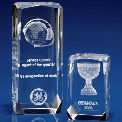 CRYSTAL GLASS VERBIER AWARD OR TROPHY AWARD.