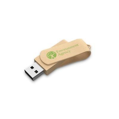 ECO FRIENDLY TWISTER RECYCLED PAPER USB.