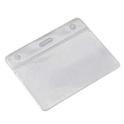 CLEAR TRANSPARENT PVC CARD HOLDER.