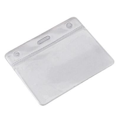 CLEAR TRANSPARENT PVC CARD HOLDER.
