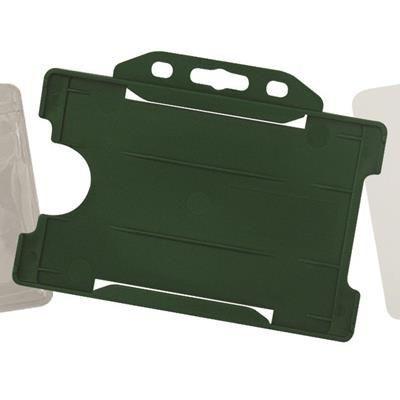 RIGID PLASTIC CARD HOLDER.