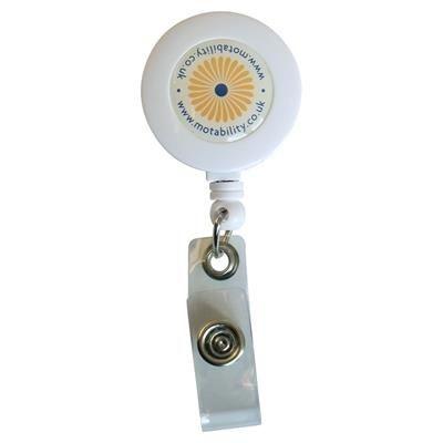 UK PLASTIC SECURITY SKI PASS HOLDER PULL REEL.