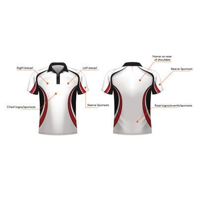FULLY BESPOKE DYE SUBLIMATED 170G SPORTS BREATHABLE POLO SHIRT.