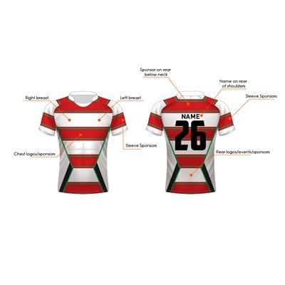FULLY SUBLIMATED BESPOKE RUGBY SHIRT.