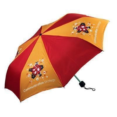 YORKSHIRE FOLDING BESPOKE UK SEWN TELESCOPIC UMBRELLA.