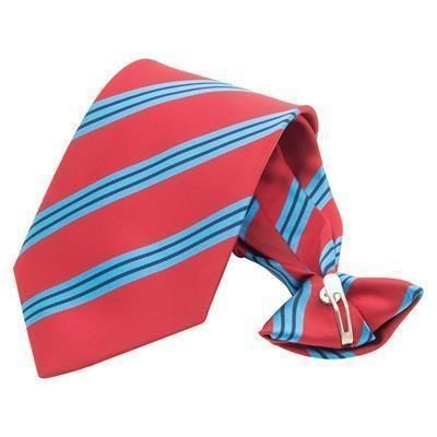 CLIP-ON PRINTED POLYESTER TIE.
