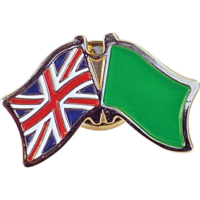 40MM STAMPED IRON SOFT ENAMELLED BADGE.