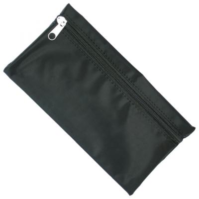 NYLON PENCIL CASE in Black with Black Zip.