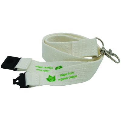 20MM ORGANIC COTTON LANYARD - UK STOCK.