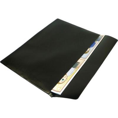 PVC DOCUMENT WALLET in Black.