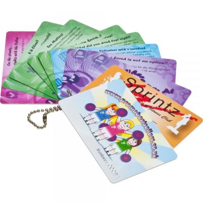 PRINTED PLASTIC CARDS.