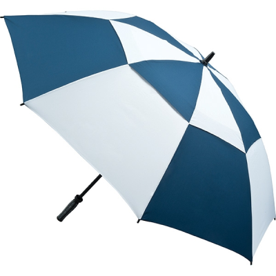 VENTED GOLF UMBRELLA in Navy & White.