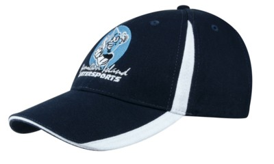 BRUSHED HEAVY COTTON BASEBALL CAP with Insert on Peak & Crown.