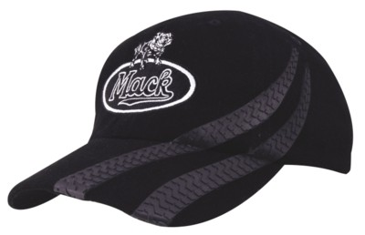 BRUSHED HEAVY COTTON BASEBALL CAP with Tyre Track Design.