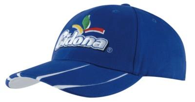 BRUSHED HEAVY COTTON with Laminated Two-Tone Peak Baseball Cap.