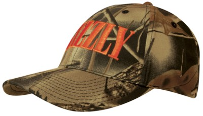 LEAF PRINT CAMOUFLAGE COTTON TWILL BASEBALL CAP.