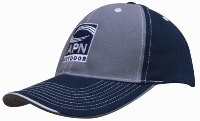BRUSHED HEAVY COTTON TWO TONE BASEBALL CAP.