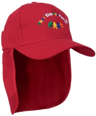 BRUSHED SPORTS TWILL CHILDRENS LEGIONNAIRE HAT.