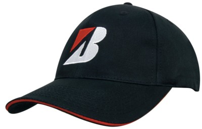 BULL DENIM COTTON TWILL with Sandwich Trim Baseball Cap.