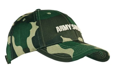 COTTON TWILL with Camouflage Print Baseball Cap.