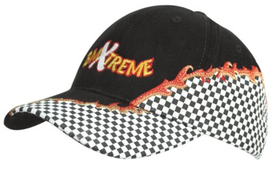 BRUSHED HEAVY COTTON BASEBALL CAP with Rift Embroidery & Checks.