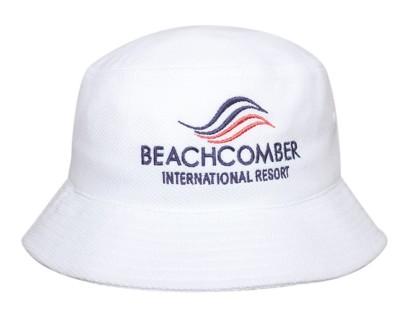 DOUBLE PIQUE MESH BUCKET HAT.