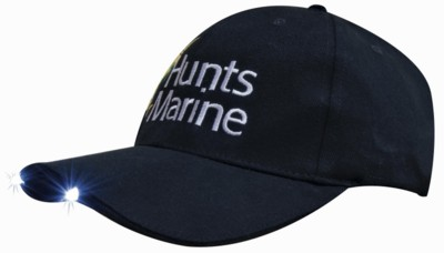 BRUSHED HEAVY COTTON BASEBALL CAP with LED Lights in Peak.