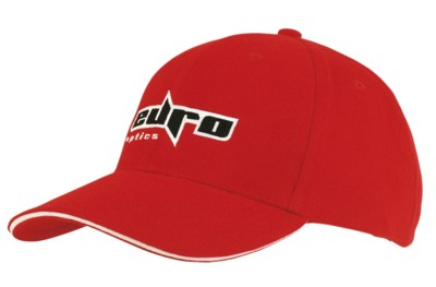 BRUSHED HEAVY COTTON BASEBALL CAP with Sandwich Trim.