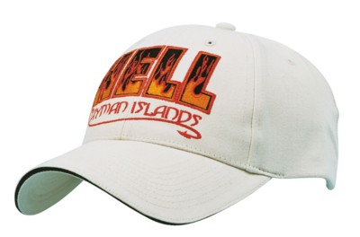 BRUSHED COTTON BASEBALL CAP with Sandwich Trim.