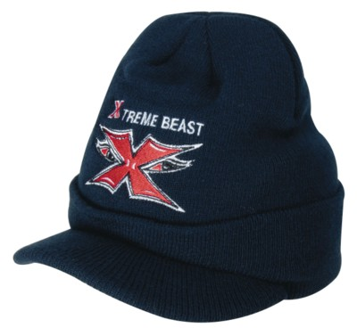ACRYLIC BEANIE HAT with Peak.