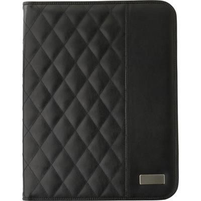 A4 PU PADDED PORTFOLIO in Black.