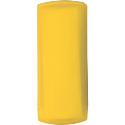 POCKET PLASTER PACK in Translucent Yellow.