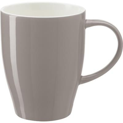 BONE CHINA MUG in Grey.