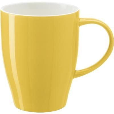 BONE CHINA MUG in Yellow.