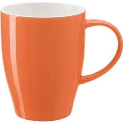 BONE CHINA MUG in Orange.