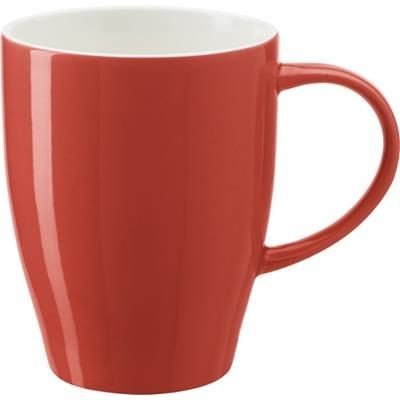 BONE CHINA MUG in Red.