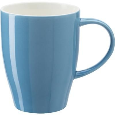 BONE CHINA MUG in Light Blue.