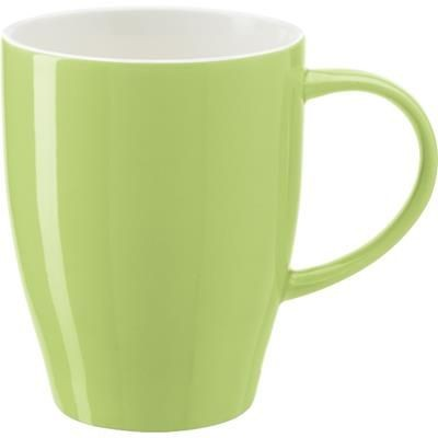 BONE CHINA MUG in Pale Green.