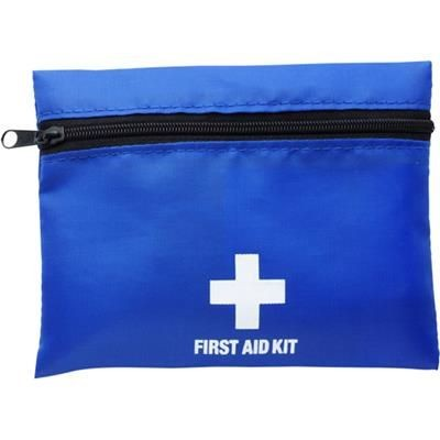 FIRST AID KIT in Blue.
