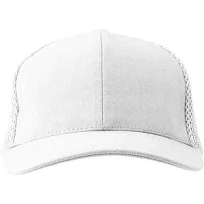 HEAVY BRUSHED COTTON TWILL BASEBALL CAP in White.