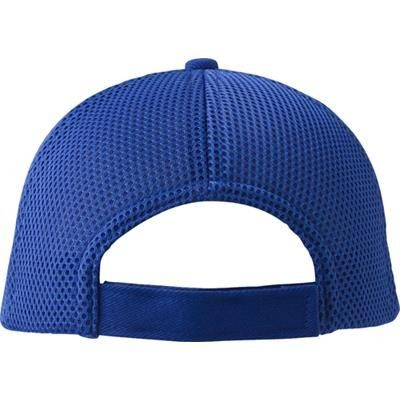 HEAVY BRUSHED COTTON TWILL BASEBALL CAP in Cobalt Blue.